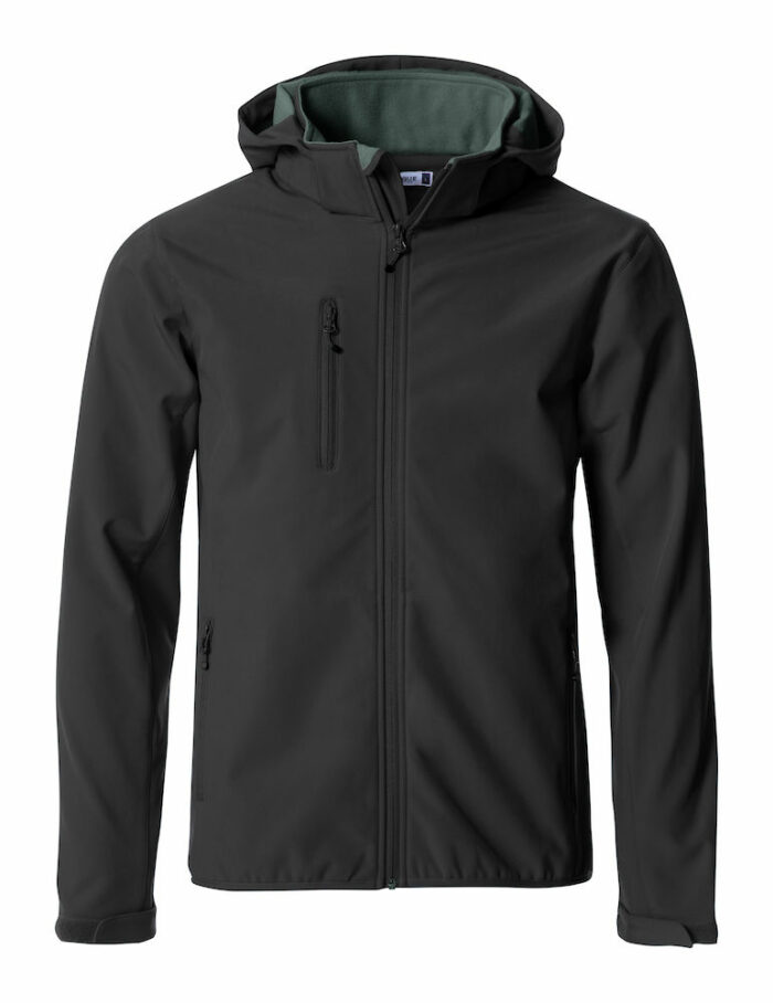 Softshell Basic Hoody Softshell Jacket - Clique 020912, 020917, homme, femme, body warmer, capuche, soft-shell, sans manches, veste, qualite, protection, tendance, clique, new wave, 109 t-shirts
