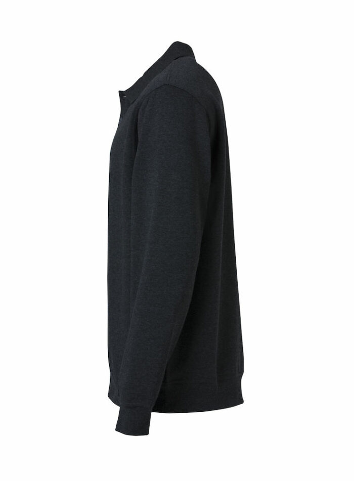 021032_BasicPoloSweater_Sweat col boutonné, anti-pilling, clique, new wave; 109 t-shirts, coton, polyester
