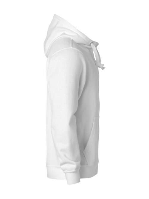 021034_BasicHoodyFullZip_clique, new wave, 109 t-shirts, sweat, full zip, sweatshirt, capuche, smartphone system, qualite, tendance, poches, oeillet, ajuste