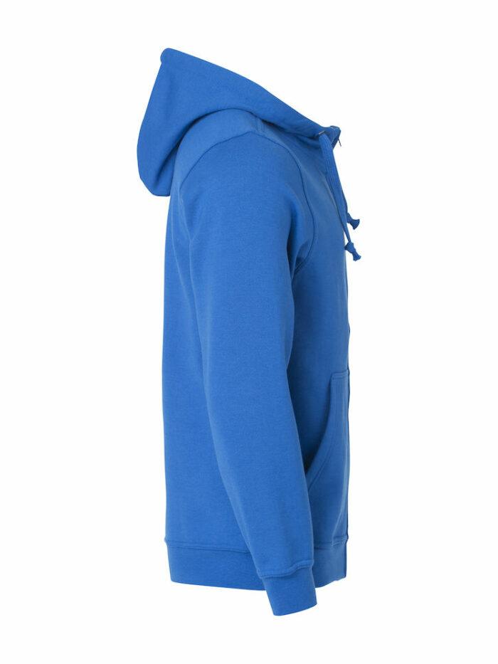 021034_BasicHoodyFullZip_clique, new wave, 109 t-shirts, sweat, full zip, sweatshirt, capuche, smartphone system, qualite, tendance, poches, oeillet, ajuste