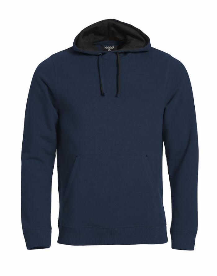 021041_classic hoody, clique, new wave, 109 t-shirts, capuche, poche kangourou, qualite, finitions, smartphone system, beau produit, sweatshirt, sweat, coton, polyester