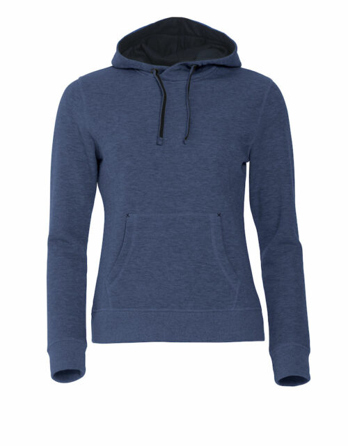 021042_classic hoody ladies, clique, new wave, 109 t-shirts, capuche, poche kangourou, qualite, finitions, smartphone system, beau produit, sweatshirt, sweat, coton, polyester