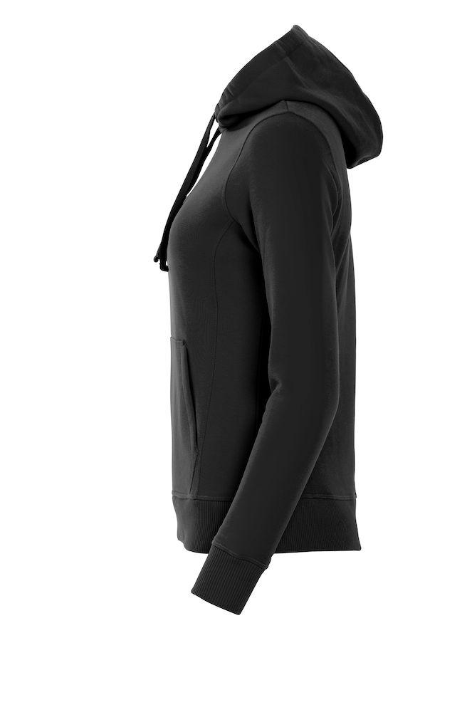 021042_classic hoody ladies, clique, new wave, 109 t-shirts, capuche, poche kangourou, qualite, finitions, smartphone system, beau produit, sweatshirt, sweat, coton, polyester