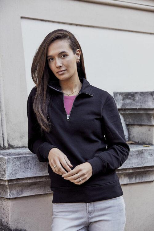 021043_ClassicHalfZip_clique, new wave, 109 t-shirts, homme, femme, unisexe, sweat, 1/2 zip, coton, polyester, qualité, tendance, ajusté