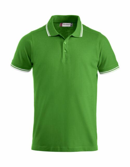 028219_Amarillo_clique, new wave, 109 t-shirts, polo unisexe, manches courtes, coton pique, liserer contraste au col, tendance