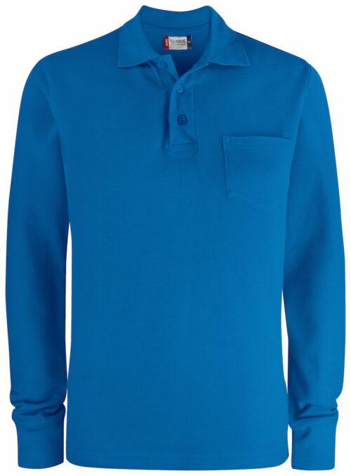 028235_BasicPolo_Pocket_Manches_Longues_LS_Clique_109-t-shirts_Polo-unisexe-poche-coton-fente-aisance-pre-retreci-enzymes-toucher-doux