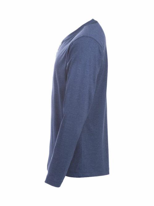 029430_Orlando_Clique - T-shirt manches longues - coupe tendance - col bouton - t-shirt homme - 109 t-shirts