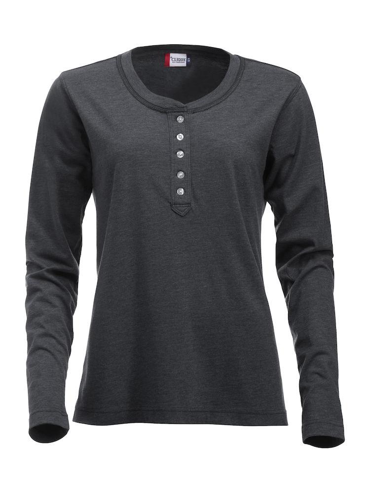029430_Orlando Ladies_Clique - T-shirt manches longues - coupe tendance - col bouton - t-shirt femme - 109 t-shirts