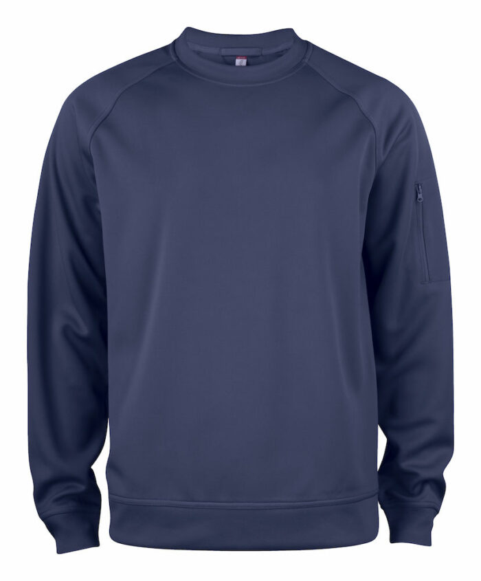 021010_BasicActiveRoundneck_homme, femme, unisexe, sweat polyester, col rond, spin dyed, clique, 109 t-shirts, lavage 690, qualite, poche zappe manche