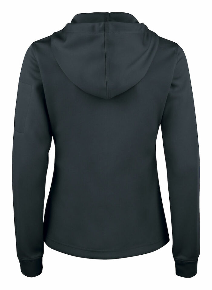 021014_021015_Basic_active-hoody-full-zip-clique-109-t-shirts, sweatshirt, capuche, full zip, polyester, 2 poches devant, poche pipée, manche, ear phone system