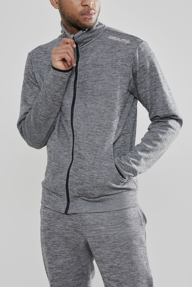 1901690_2336_Leisure_Jacket_Homme, Sweatshirt capuche confortable et stretch • Polyester doux et confortable • Ajustement ergonomique élastique • Capuche avec cordon de serrage • Deux poches, Craft, 109 t-shirts