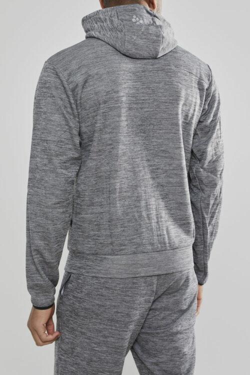 1901692_2336_Leisure_Full_Zip_Hood_Homme, Sweatshirt full zip capuche très confortable • Tissu Flex doux et fonctionnel • Ajustement ergonomique élastique • Capuche avec cordon de serrage • Deux poches, Craft, 109 t-shirts
