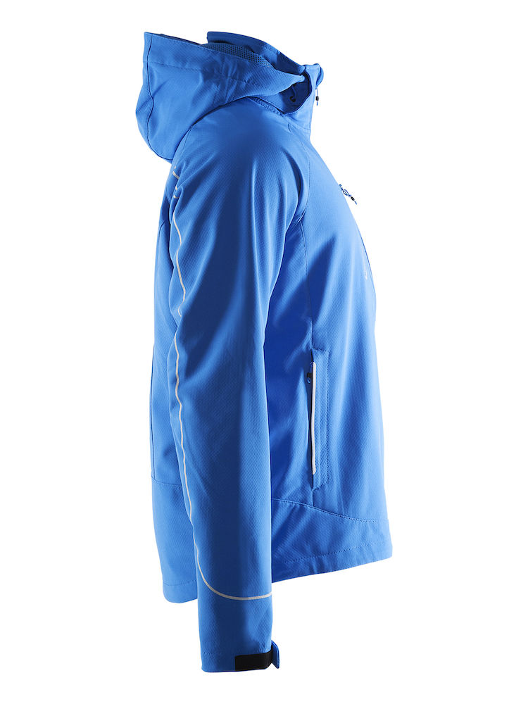 1903554_1336_Cortina_Soft_Shell_Jacket_Homme, Veste softshell - ZIP étanches - Manches préformées - Capuche amovible - Poignets ajustables - 2 poches - Impressions rétro-réfléchissantes WP : 10000 MWP : 5000, Craft, 109 t-shirts