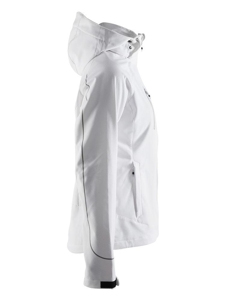 1903555_1336_Cortina_Soft_Shell_Jacket_Femme, Veste softshell - ZIP étanches - Manches préformées - Capuche amovible - Poignets ajustables - 2 poches - Impressions rétro-réfléchissantes WP : 10000 MWP : 5000, Craft, 109 t-shirts