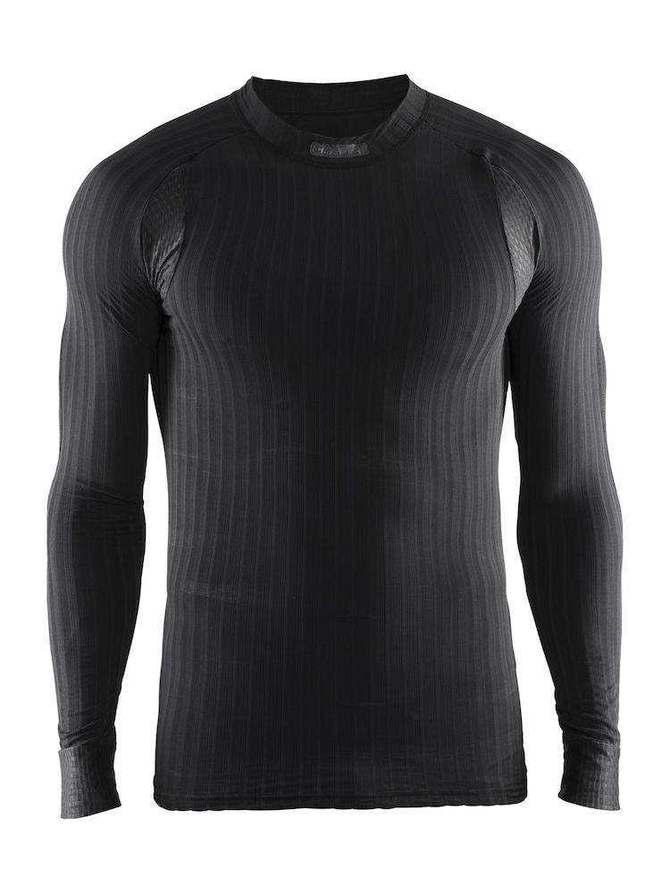 1904495_9999_Active_Extreme_2.0_CN_LS_Homme, Sous-vêtement - manches longues thermo-régulateur en elasthannne+ Coolmax - léger, souple et confortable - tissage en micro chaine spécifique en forme d'hélice - Excellente évacuation de la transpiration - confort optimum et performance, Craft, 109 t-shirts