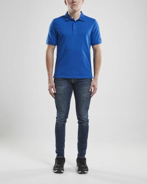 1905800_336000_CASUAL POLO PIQUE_Homme, Polo contemporain avec 3 boutons • Polyester et coton doux pour un équilibre parfait entre fonctionnalité et confort • Fentes d'aisances latérales, Craft, 109 t-shirts