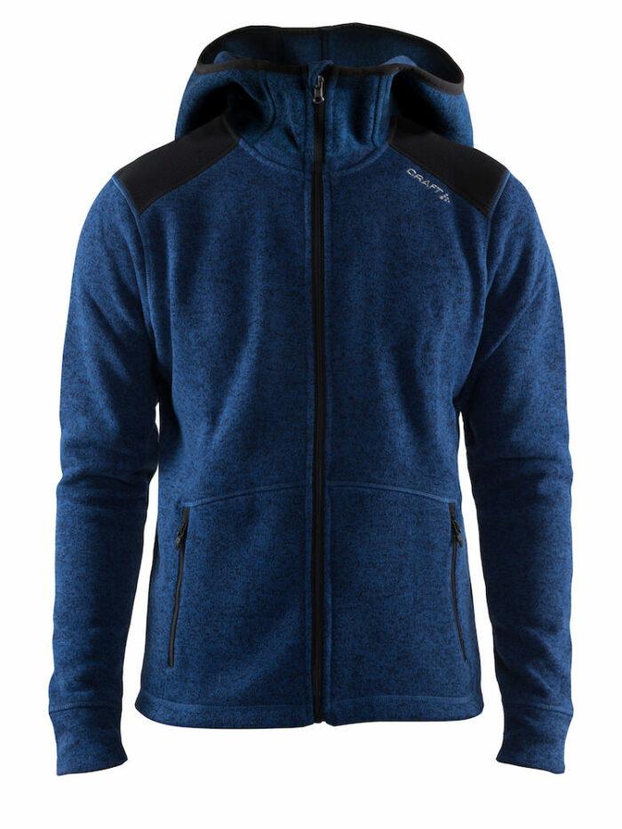 1906282_381200_Noble_Hood_Jacket_Homme, Veste à capuche en mailles épaisses • Coutures plates • 2 Poches zippées • Empiècements renforcés : Epaules + coudes + intérieur du col, Craft, 109 t-shirts
