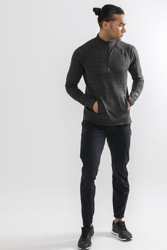 1906648_998000_Grid_Halfzip_Veste half zip, Douce et fonctionnelle, Tissu structuré pour ne pas coller à la peau, Homme, Craft, 109 t-shirts