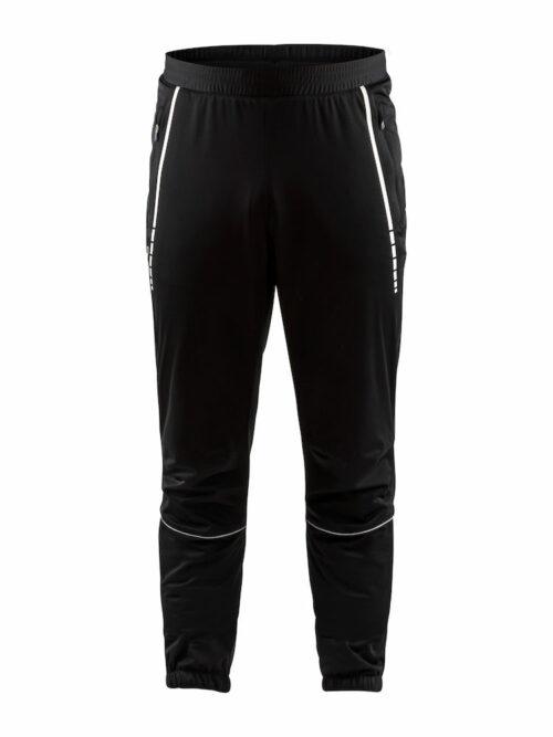 1906771_999000_Craft_Club_Fz_Pants_Homme, Pantalon de sport fonctionnel pour le ski de fond - Coupe vent - Elastiques au dos - Polyester laminé fin pour une bonne protection contre le vent et une bonne ventilation - 3/4 zip pour un retrait facile, Craft, 109 t-shirts