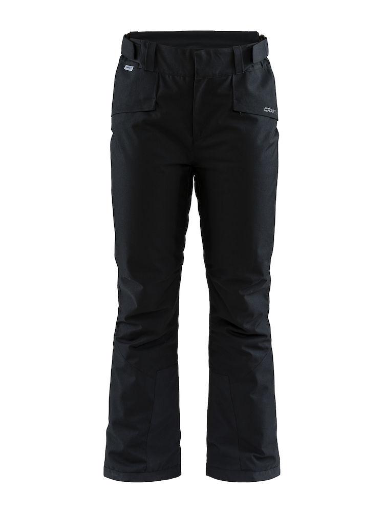 1906951_999000_Mountain Pants_Femme1906324_999000_Mountain Pants_ Femme, Pantalon en softshell + doublure - Coupe-vent et imperméabilité qui assure une excellente protection et confort - Taille réglage Velcro - Passants pour ceinture - 2 poches - Double finition aux mollet stop - neige WP : 8000 MWP : 8000, Craft, 109 t-shirts