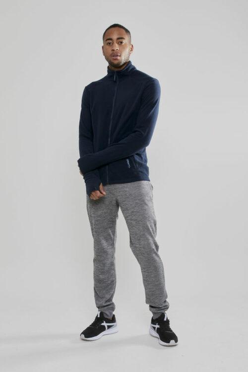 1907219_395000_Casual Fleece_Veste coupe moderne, Polyester doux et brossé, Full Zip, Homme, Craft, 109 t-shirts
