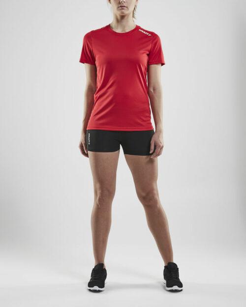 1907362_346000_RUSH SS TEE_Femme, T-shirt manches courtes léger • Tissu extensible et fonctionnel avec empièments en mesh sous les bras pour évacuer l'humidité • Grande liberté de mouvement • Idéal pour les clubs, sponsors ou entreprises, Craft, 109 t-shirts