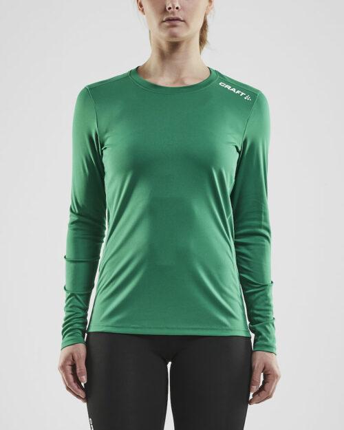 1907365_346000_RUSH LS TEE_Femme, T-shirt manches longues léger • Tissu extensible et fonctionnel avec empièments en mesh sous les bras pour évacuer l'humidité • Grande liberté de mouvement • Idéal pour les clubs, sponsors ou entreprises, Craft, 109 t-shirts