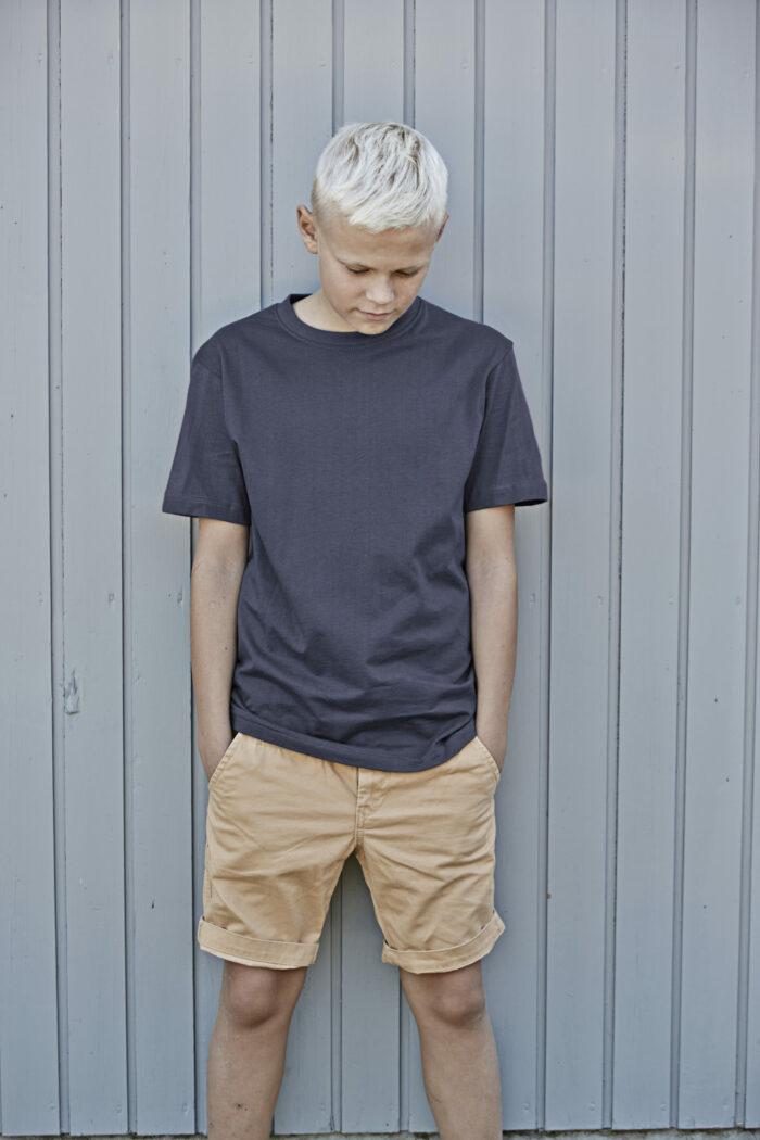 1100B_T-shirt col rond pour enfant -140 g / m² -100% coton (bio) -Tissu super-peigné -Bande de propreté d'épaule à épaule -Coutures doubles -Construction tubulaire -Etiquette détachable - Tee Jays - 109 t-shirts