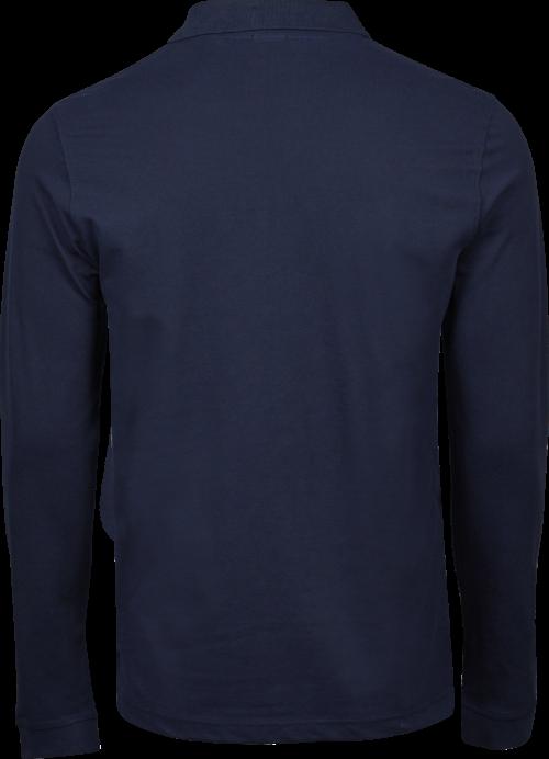 1406_Luxury Stretch Long Sleeve Polo, Homme, mini piqué compact -prérétréci -col plat en lycra -bande de propreté aux épaules -patte de boutonnage soignée -longues manches avec poignets -coupe ajustée, Tee Jays, 109 t-shirts