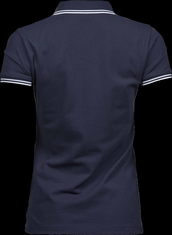 1408_Luxury Stripe Stretch Polo, Femme, Mini Piqué -Double pré-rétréci -Col en tricot plat rayé avec élasthanne -Bande de propreté -Patte de boutonage soignée -Bords des manches rayés, Tee Jays, 109 t-shirts