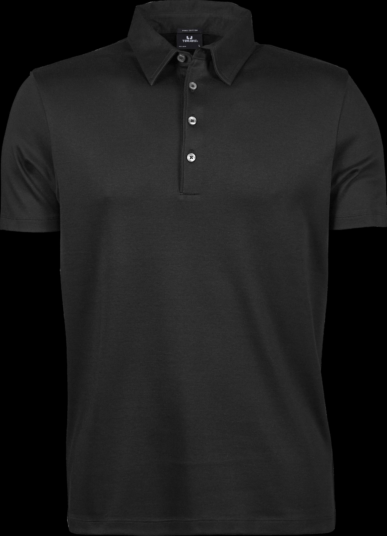 1440_Pima_Polo_Homme, Prérétréci deux fois -lavé aux enzymes -Col de même matériau et patte de boutonnage étroite avec logo en boutons anthracite perlés -Renforts d épaules -Coupe ajustée., Tee Jays, 109 t-shirts