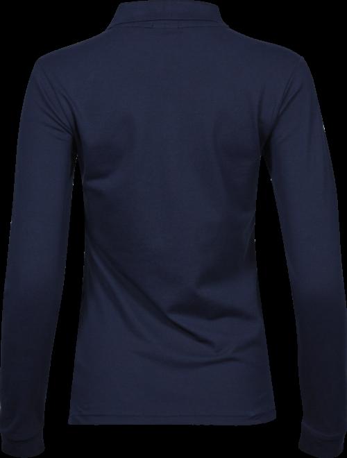 146_Luxury Stretch Long Sleeve Polo, Femme, mini piqué compact -prérétréci -col plat en lycra -bande de propreté aux épaules -patte de boutonnage soignée -longues manches avec poignets -coupe ajustée, Tee Jays, 109 T-shirts