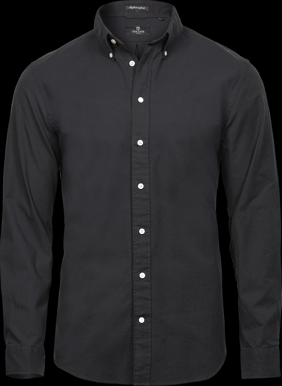 4000_Perfect Oxford Shirt, Chemise Homme, vêtement teint et lavé col boutonné col et poignets incorporés empiècement au dos avec pli creux boucle de suspension intérieure ourlet incurvé coupe ajustée, Tee Jays, 109 t-shirts