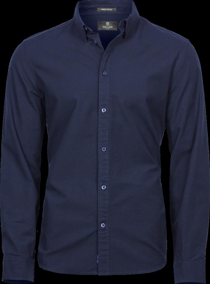 4010_Urban Oxford Shirt, Chemise Homme, Vêtement lavé -boutons sous le col -col et poignets incorporés -empiècement arrière -Coupe ample, Tee Jays, 109 t-shirts