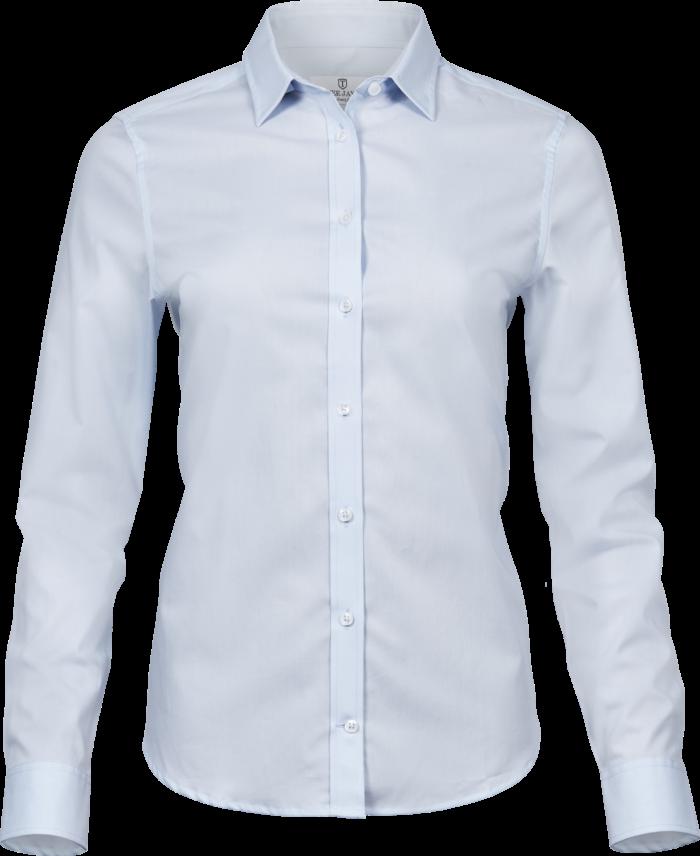 4025_Womens Stretch Luxury Shirt, Femme, Chemise, col et poignets incorporés -boutons nacrés élégants -empiècement dorsal avec plis des deux côtés -pinces au dos -ourlet incurvé -facile à repasser -coupe ajustée, Tee Jays, 109 t-shirts