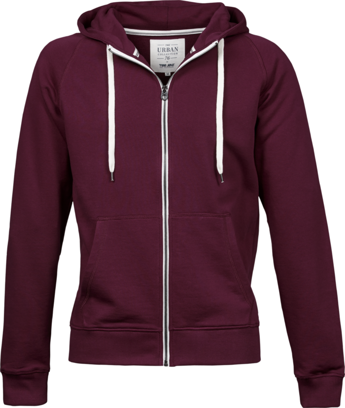 5402_Homme_Urban Zip Hoodie - Coton égyptien à longues fibres -non brossé -lavé aux enzymes -fermeture à glissière -manches raglan -poignets élastiqués -modèle ample, Tee Jays, 109 T-shirts