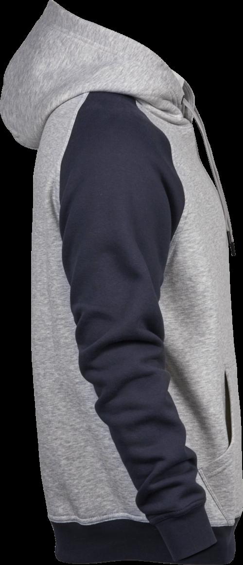5433-Femme - Two-Tone Hooded Sweatshirt - Fibres longues en coton égyptien -Intérieur brossé -Bord côte avec élasthanne -Grande poche à l avant -Double couture, Tee Jays, 109 T-shirts