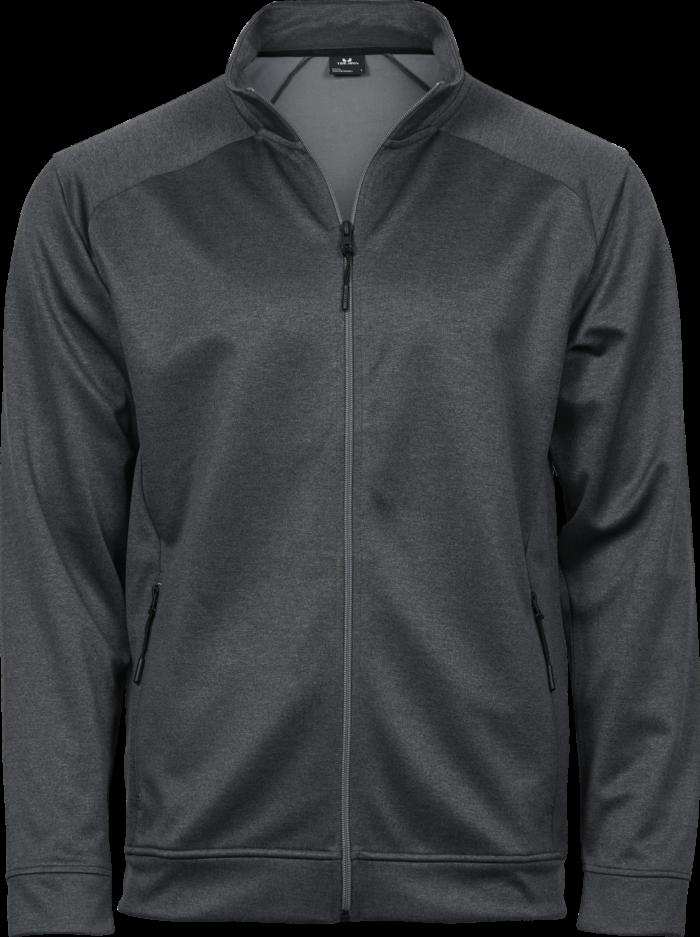 5602_Performance Zip Sweat, Homme, non brossé -fermeture à glissière complète -2 poches avant avec zip -manches en tissu -coupe ample, Tee Jays, 109 T-shirts