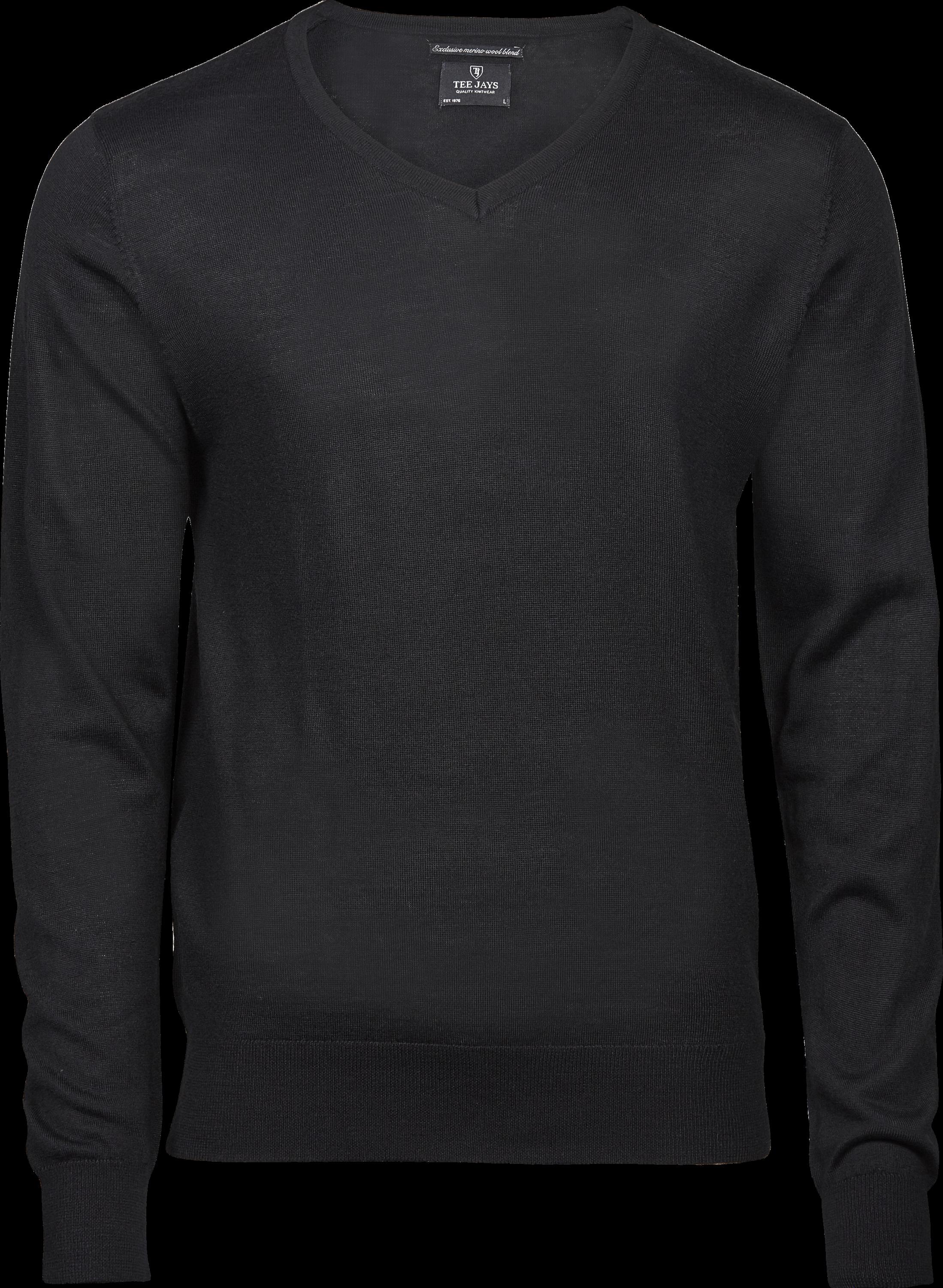 6001_Mens Knitwear - Homme - 50% laine (mérinos), 50% acrylique -Calibre 12 tricot -Qualité italienne fil mérinos -Lavable à 30 degrés (programme laine) -Coupe ajustée, Tee Jays, 109 T-shirts, Col V