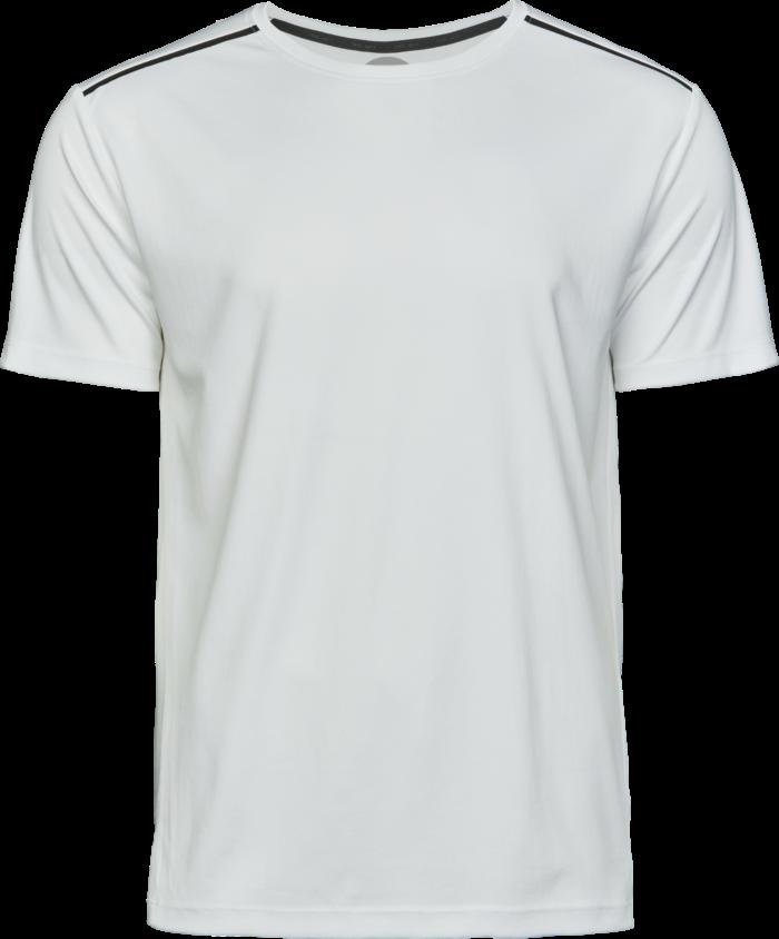 7010_white7010_Luxury Sport Tee, Homme, Tissu doux, respirant et léger -Évacuation de l'humidité, matériau à séchage rapide -Bande de propreté noir -Sceau imprimé sur les épaules -Coutures latérales -Couture double, Tee Jays, 109 t-shirts