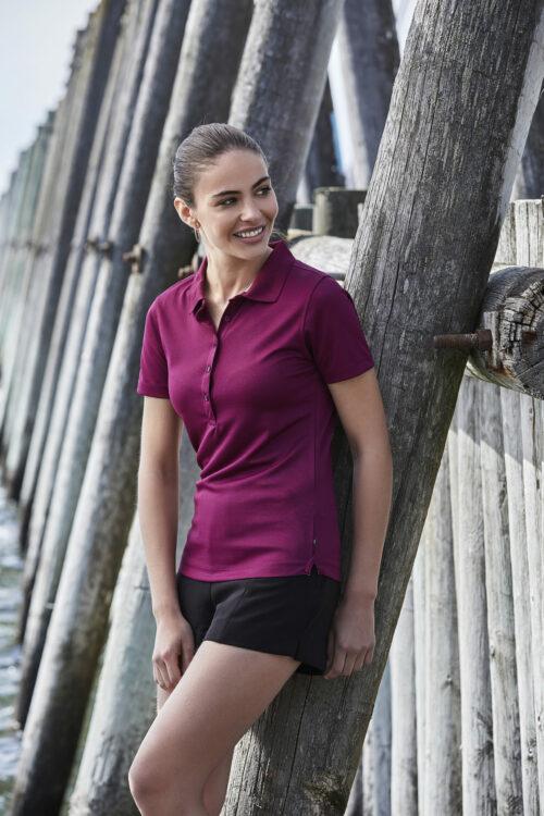 7105_Performance Polo - Femme - piqué -respirant -évacue la sueur -col en piqué -patte de boutonnage -coupe cintrée - Tee Jays - 109 T-shirts