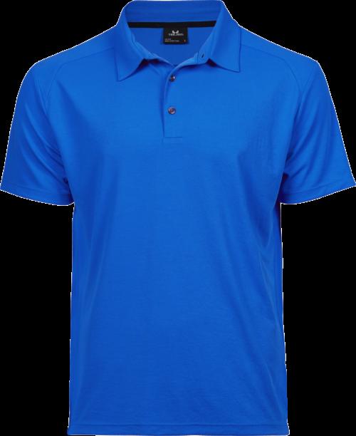 7200_Luxury Sport Polo Homme, léger -finition pour l'évacuation de l'humidité -col incorporé de même tissu -patte de boutonnage -boutons contrastés anthracite -coupe ajustée, Tee Jays, 109 t-shirts