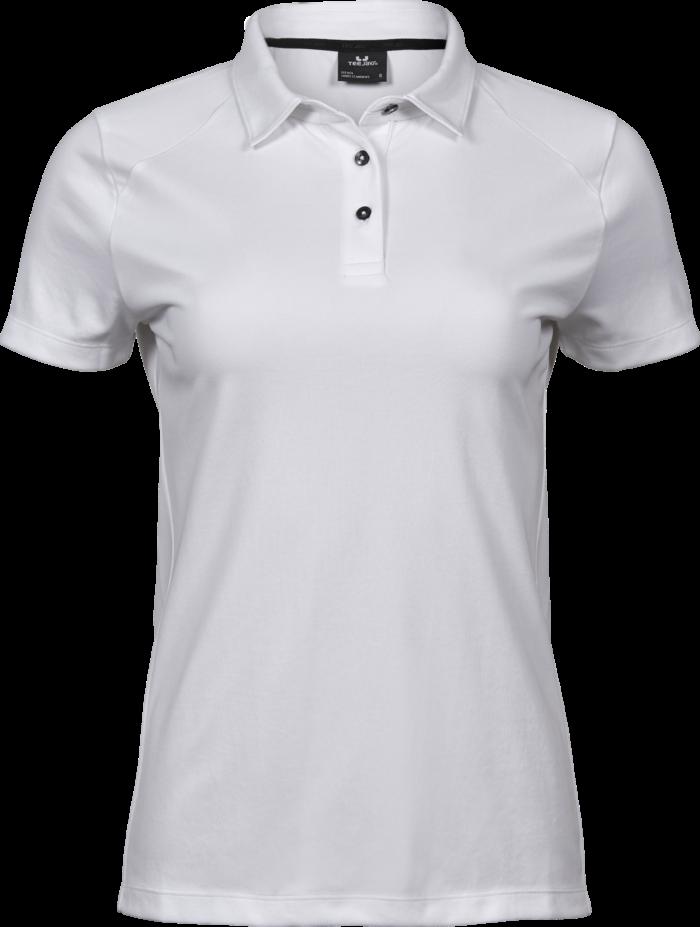 7201_Luxury_Sport_Polo_Femme - léger -finition pour l'évacuation de l'humidité -col incorporé de même tissu -patte de boutonnage -boutons contrastés anthracite -coupe ajustée, Tee Jays, 109 t-shirts