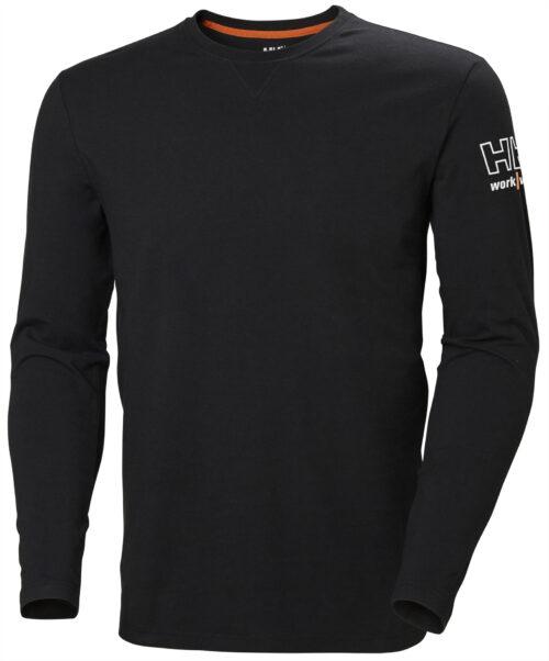 79242_Kensington_Longsleeve_T-shirt, Avec le confort pour mot d'ordre, la collection Kensington est inégalable. L'association du coton et de l'élasthane vous assure un confort tout au long de votre journée de travail, quoi qu'il se passe - Logo HH Workwear en relief, Helly Hansen, 109 t-shirts