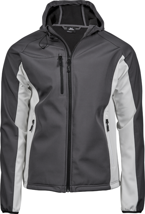 9514_Homme_Hooded_LightWeight_Performance_Softshell, Membrane TPU -Zip complet -Poche imperméable sur la manche -2 grandes poches avant avec zip -Poignets élastiques -Ourlet réglable -Coupe légèrement cintrée, Tee Jays, 109 t-shirts