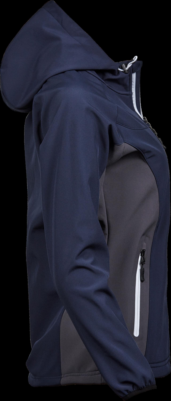 9515_Femme_Hooded_LightWeight_Performance_Softshell, Membrane TPU -Zip complet -Poche imperméable sur la manche -2 grandes poches avant avec zip -Poignets élastiques -Ourlet réglable -Coupe légèrement cintrée, Tee Jays, 109 t-shirts
