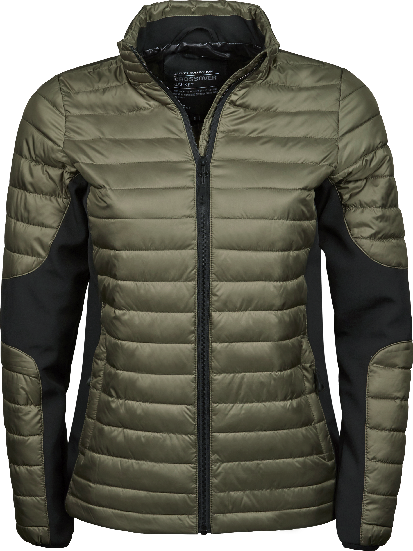 9627_Femme_Crossover_Jacket, Shell et doublure: 100% polyester (300T) -Softshell: 95% polyester, 5% élasthanne -hydrofuge et respirante -fermeture à glissière intégrale inversée -2 grandes poches à l'avant, poche intérieure -poignets élastiques -Préparé pour la broderie, Tee Jays, 109 T-shirts