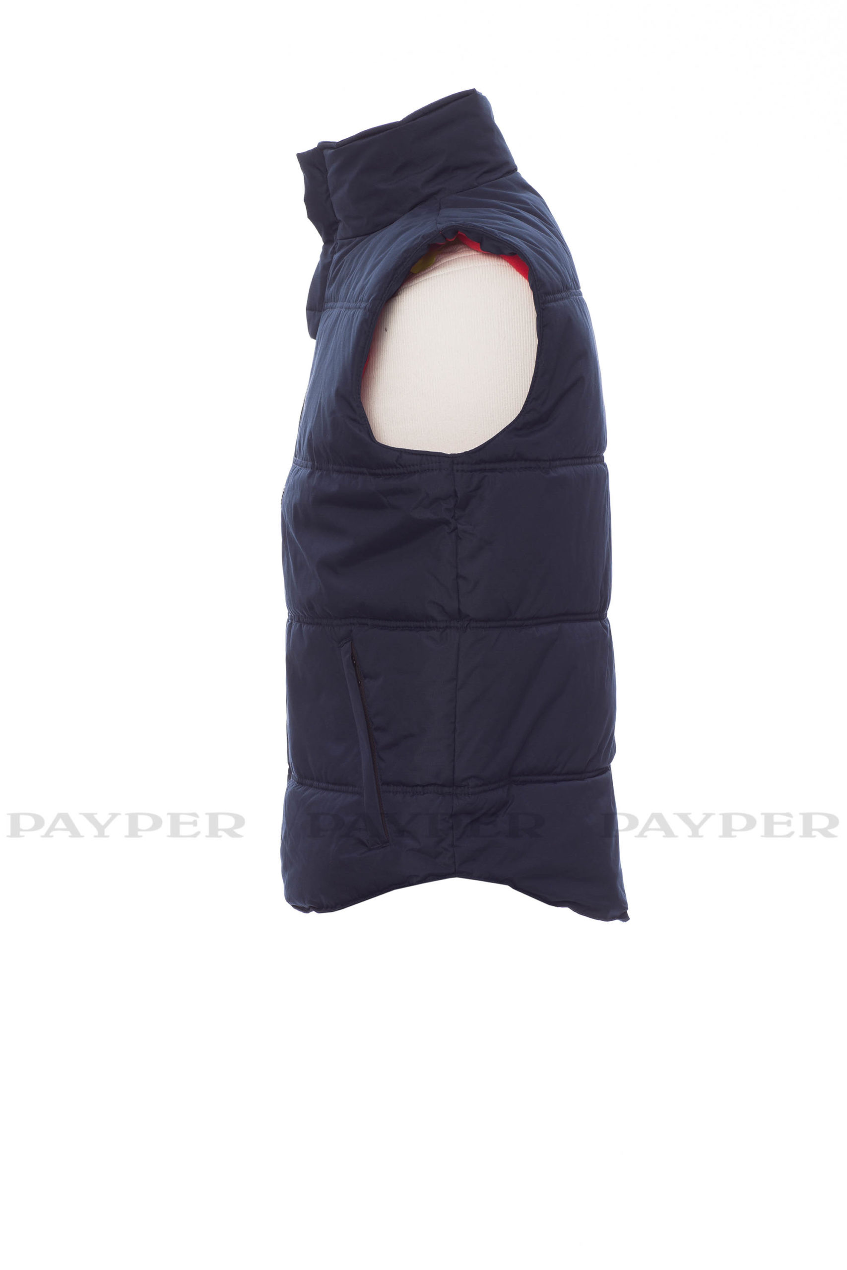 Daytona, gilet unisexe, payper, ripstop 240T, poche poitrine, polyester, 109 t-shirts, micropolaire, contraste, curseur metal, deux poches laterales