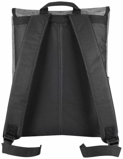 040302_Melange-Backpack_Grey-Melange_Back - Clique, 109 t-shirts, Sac a dos urbain, poches, bretelles rembourrées, poignée, sangles, 20 litres