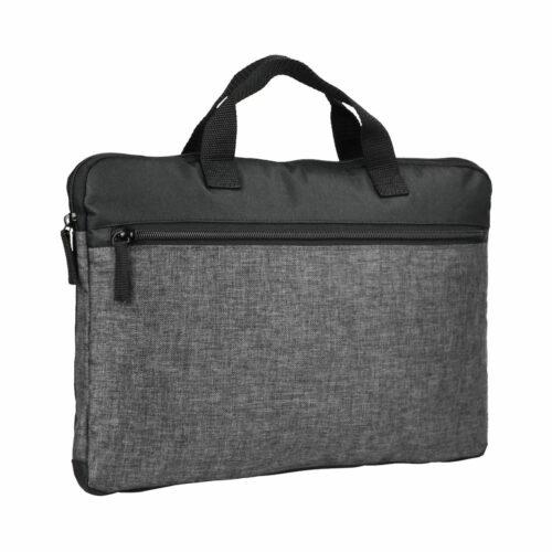040303_Melange-Computre-case_Grey-Melange_clique, 109 t-shirts, sac ordinateur, poignée robuste, poche extérieure, zip SBS